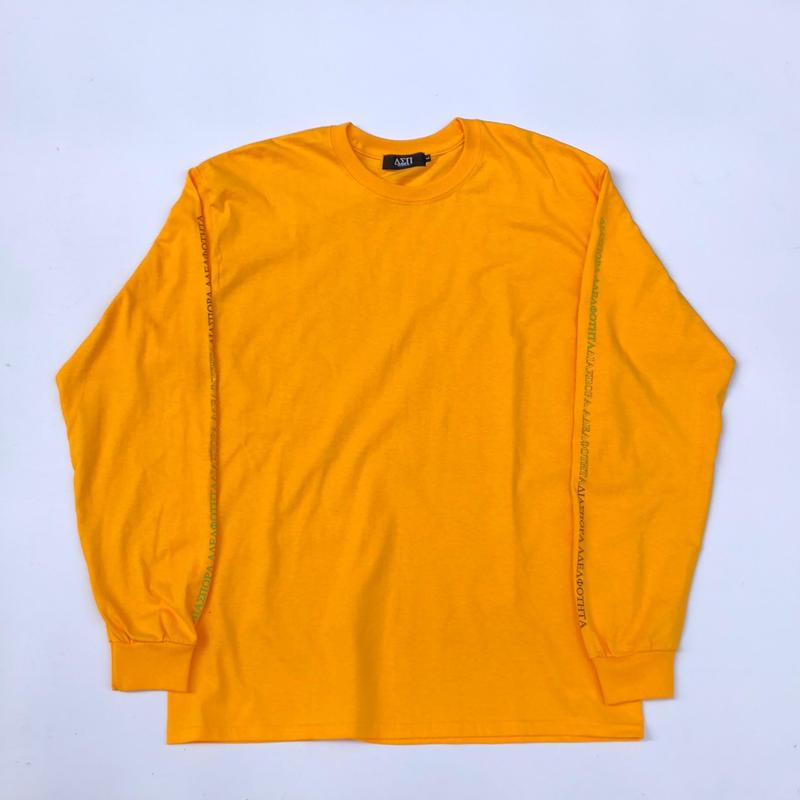 Diaspora skateboards / Tri Long Letter L/S Tee (yellow)