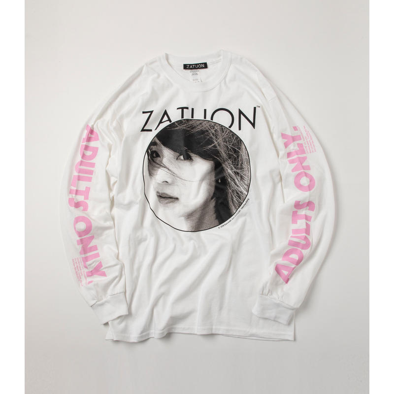 ZATUON x 川崎あや / adults tee (white)