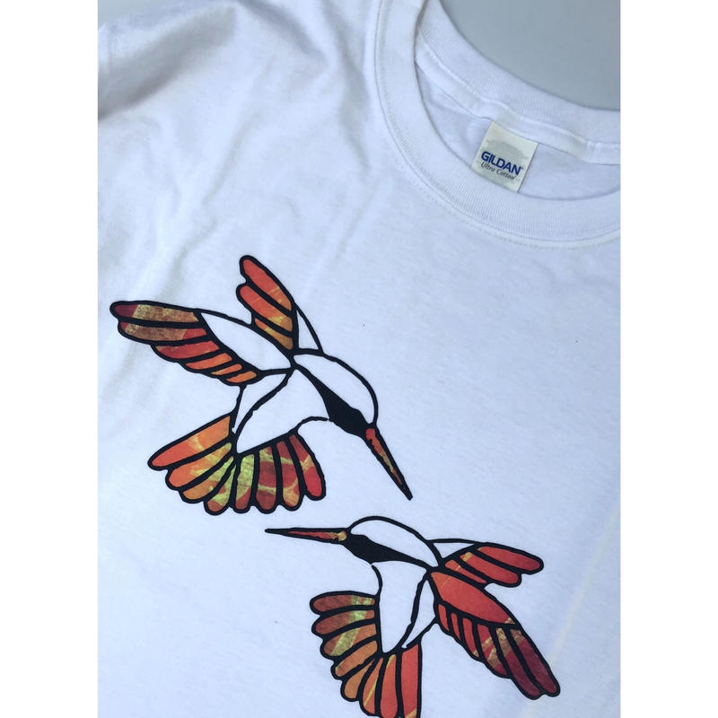 "tr.4 suspension / ""Humming Bird"" EDITION Print L/S Tee (size:M)#9"
