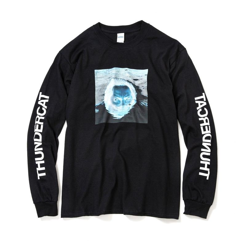 THUNDERCAT / 『DRUNK』Remix Long Sleeve T-shirt 'Reflect' (black)