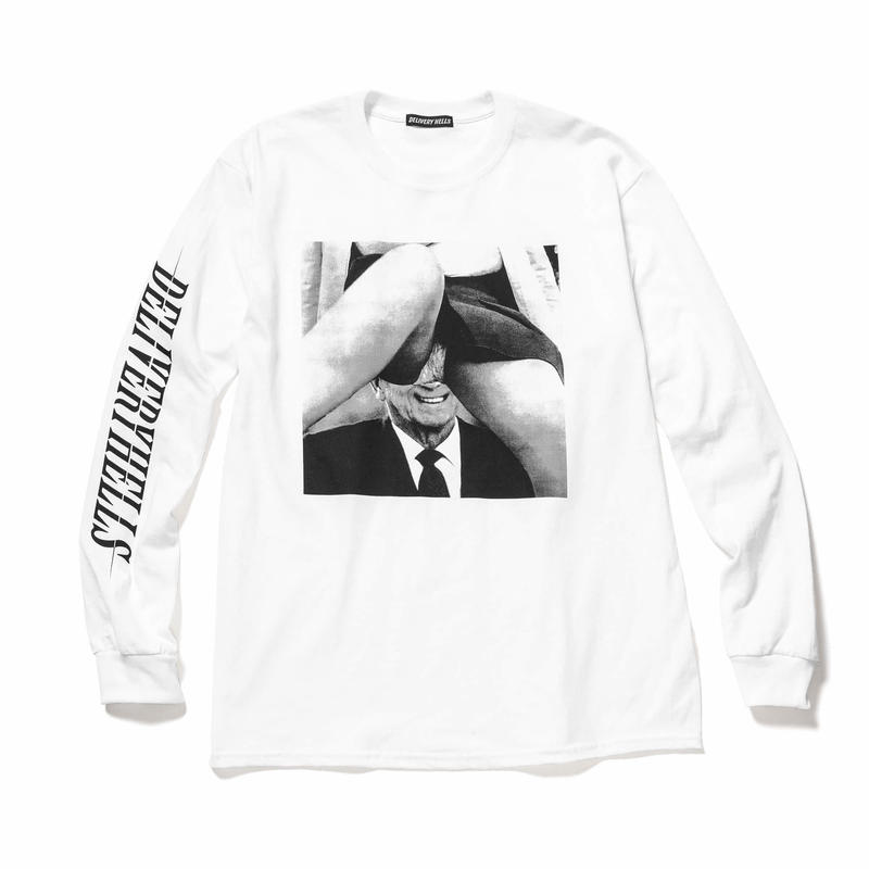 """Delivery Hells / """"INSIDE"""" L/S Tee (white)"""