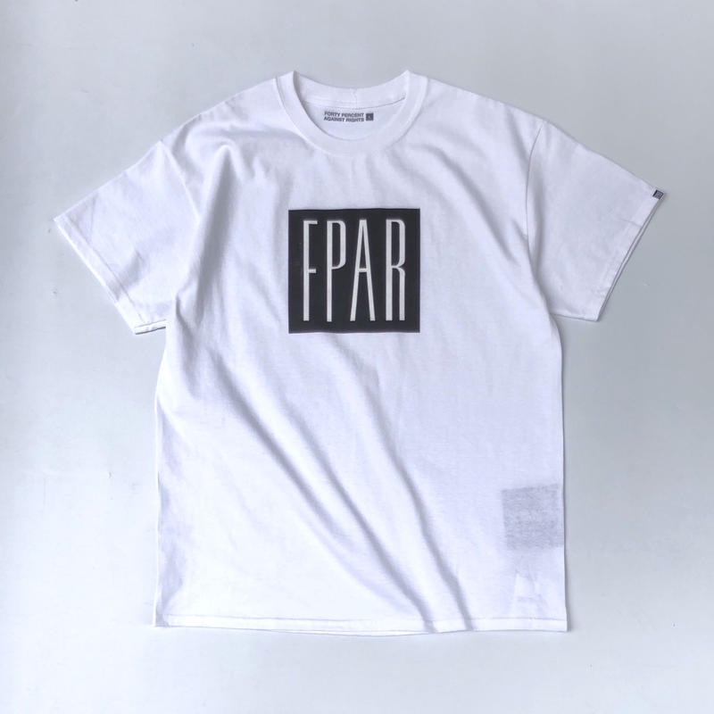 FORTY PERCENT AGAINST RIGHTS / BASE T-SHIRT (white)