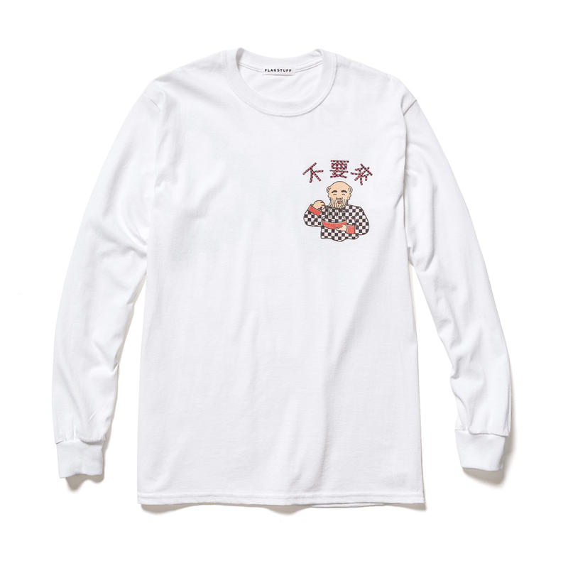 F-LAGSTUF-F×DON'T COME  / L/S tee (white)