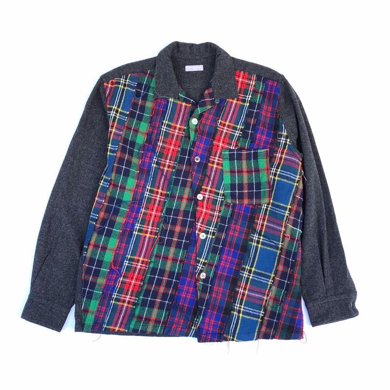 COMME des GARCONS HOMME ウールチェックシャツ (spice)