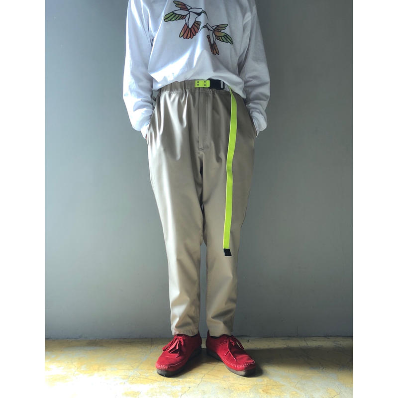 THREE FACE/Easy Pnts With Belt (BEIGE)