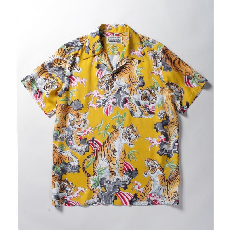 WACKO MARIA x TIM LEHI / S/S HAWAIIAN SHIRT (type-2,yellow)