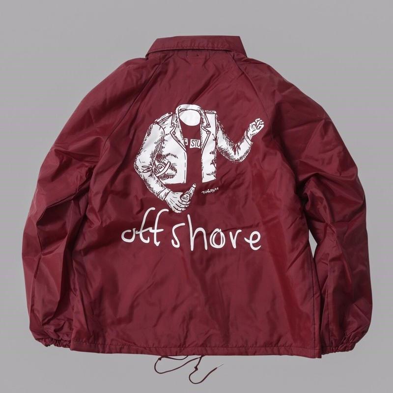 F-LAGSTU-F × offshore /   Blend  coach jacket