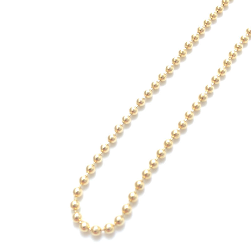 """14K GOLD NECKLACE """"Ball Chain"""" (55cm)#4"""