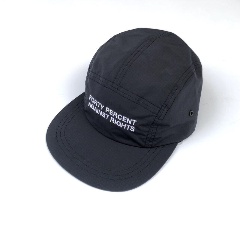 FORTY PERCENT AGAINST RIGHTS / SINCE 6Panel Cap(black)