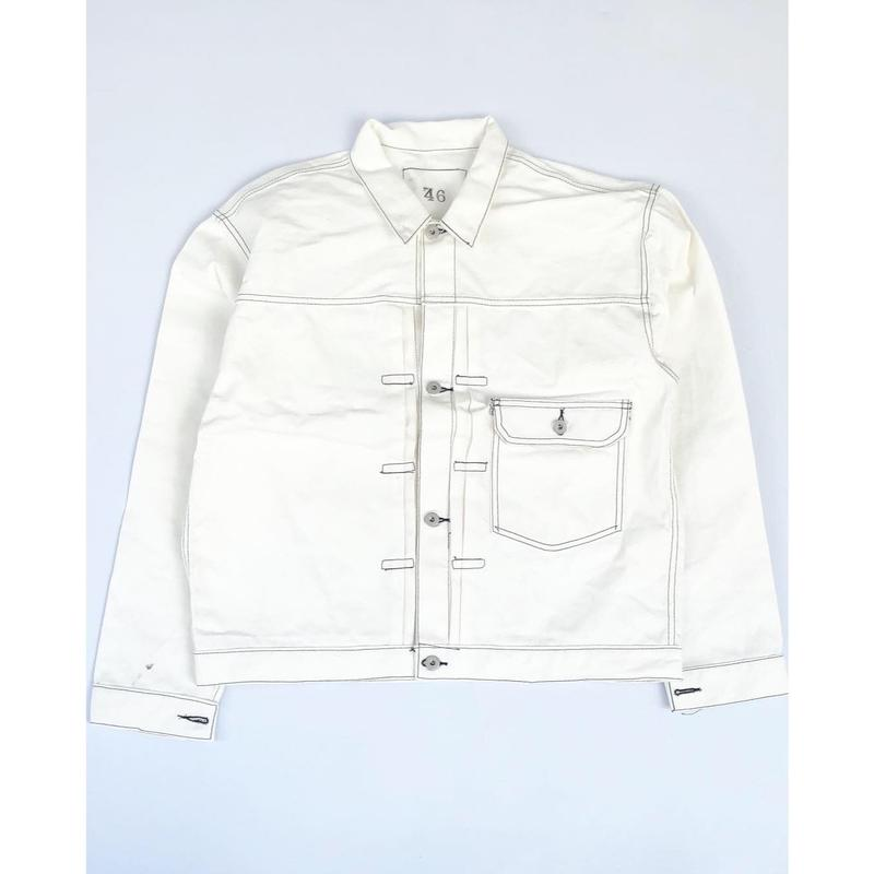CSF for THREE FACE/ denim jacket (white: size / 48)
