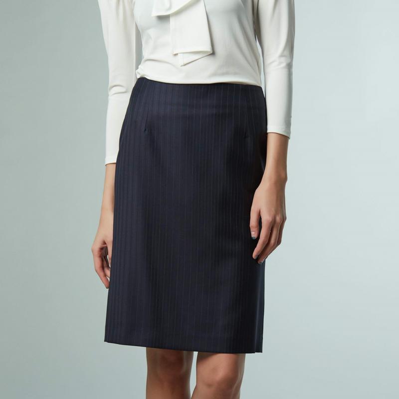 ウールストライプ スカート 183-13002