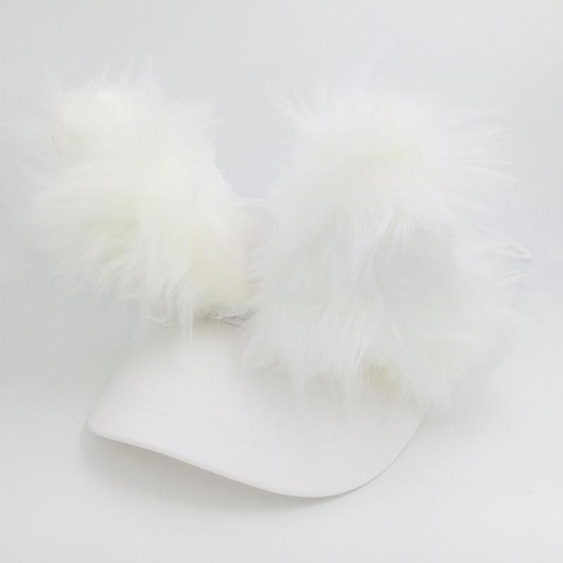 招き猫サンバイザー ホワイト