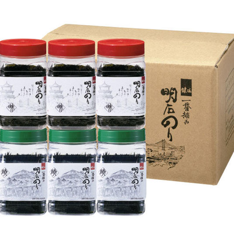 【一番摘み明石海苔 鍵庄】明石の恵み 味焼6本セット