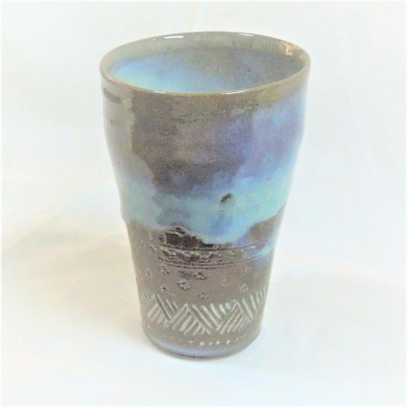 乳濁釉ビアカップ《S酒2u2》