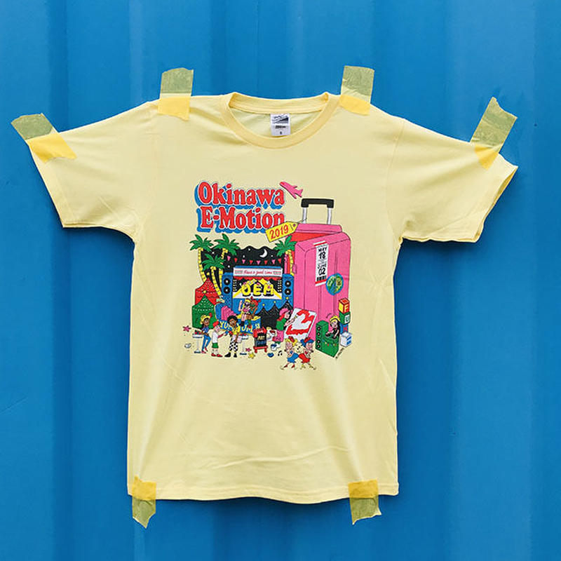 Okinawa E-Motion × Ms.Little Chico オリジナルTシャツ NO.1/ イエロー