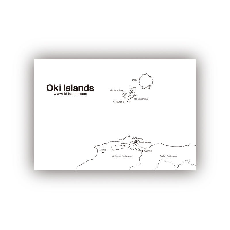 Oki Islands Postcard Type B