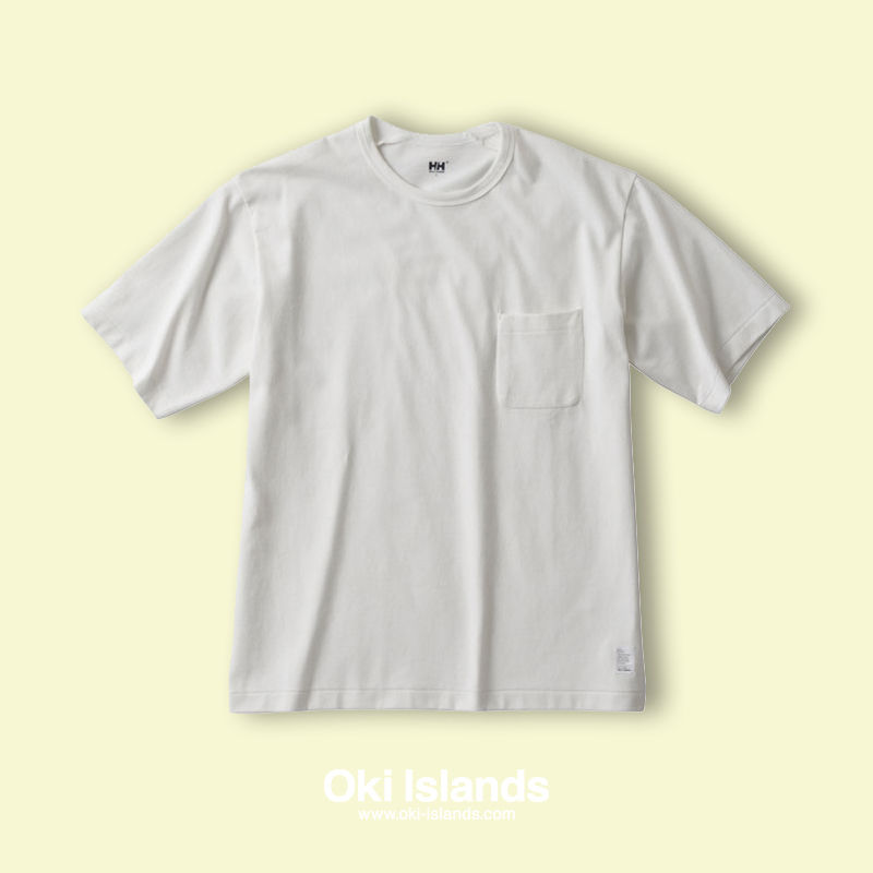 S/S Brushed Pocket Tee / Oki islands ホワイト(W)