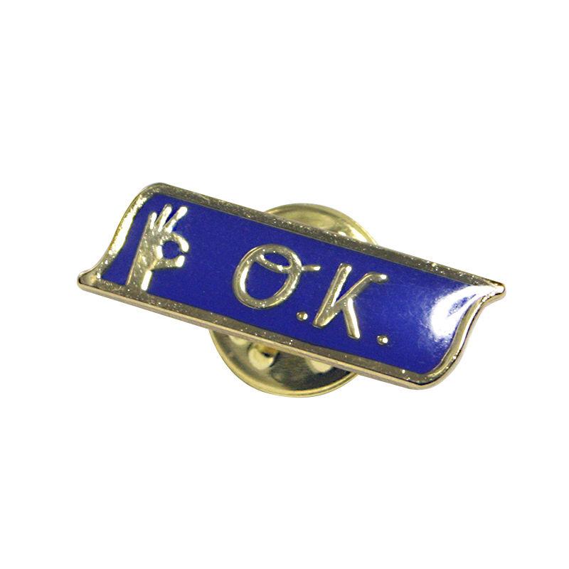 OK171-204   O.K. ロゴ ピンバッヂ