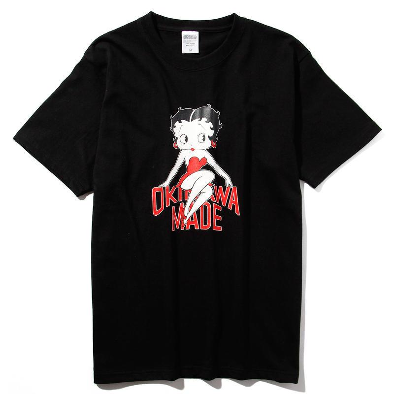 BETTY BOOP/OKINAWAMADE™コラボTシャツ(ブラック)