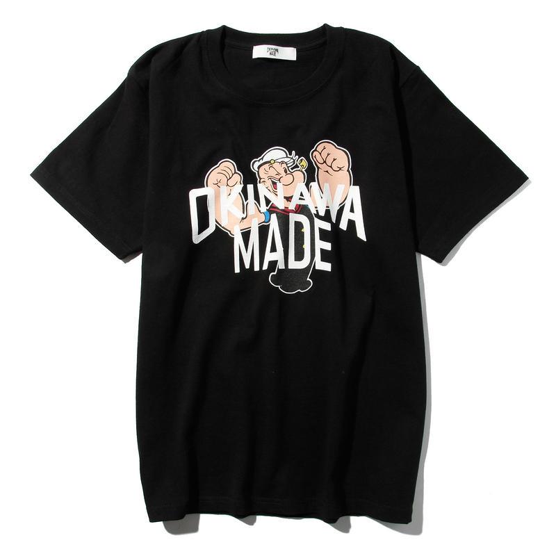 POPEYE/OKINAWAMADE™コラボTシャツ(ブラック)
