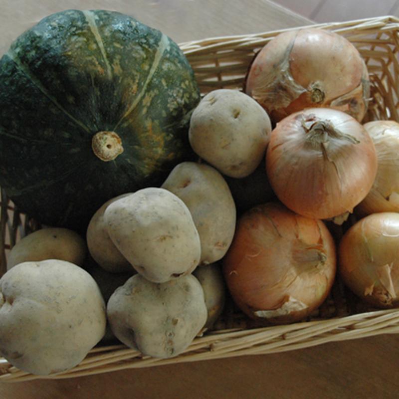 2018年秋野菜 生産者限定・有機JAS農産物 北海道秋野菜アソート 5kgセット (たまねぎ、じゃがいも、かぼちゃ)