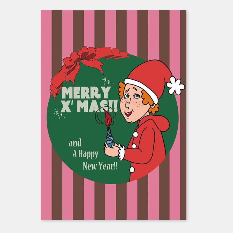 ポストカード クリスマスキャロル 封筒付き