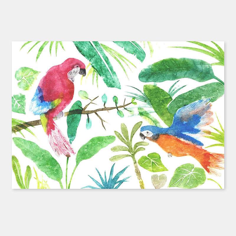 ポストカード 鳥たちの午後 封筒付き