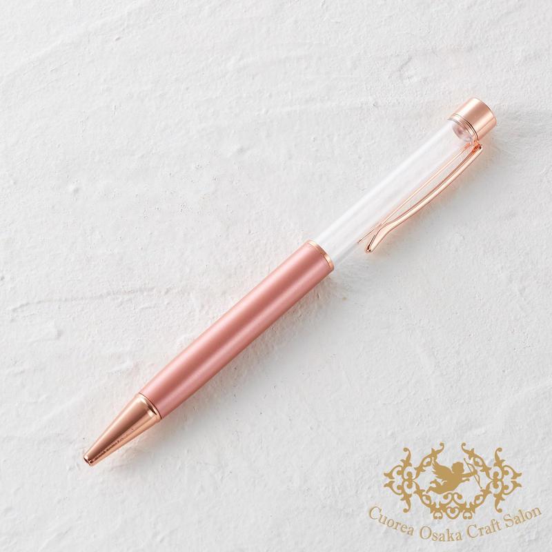 16:ハーバリウムボールペン単体 パールピンク×PG