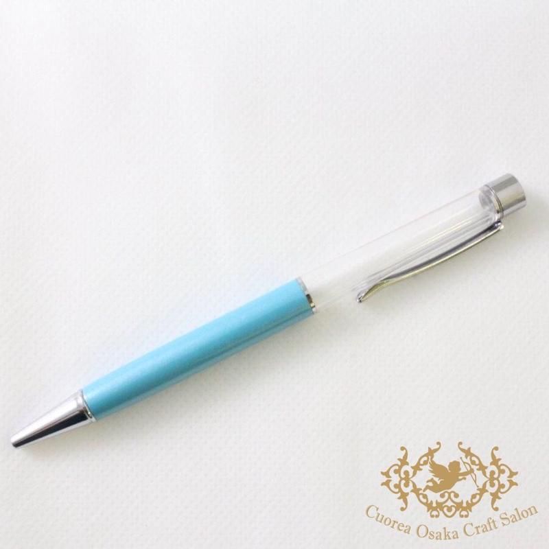 4:ハーバリウムボールペン単体 ライトブルー×S