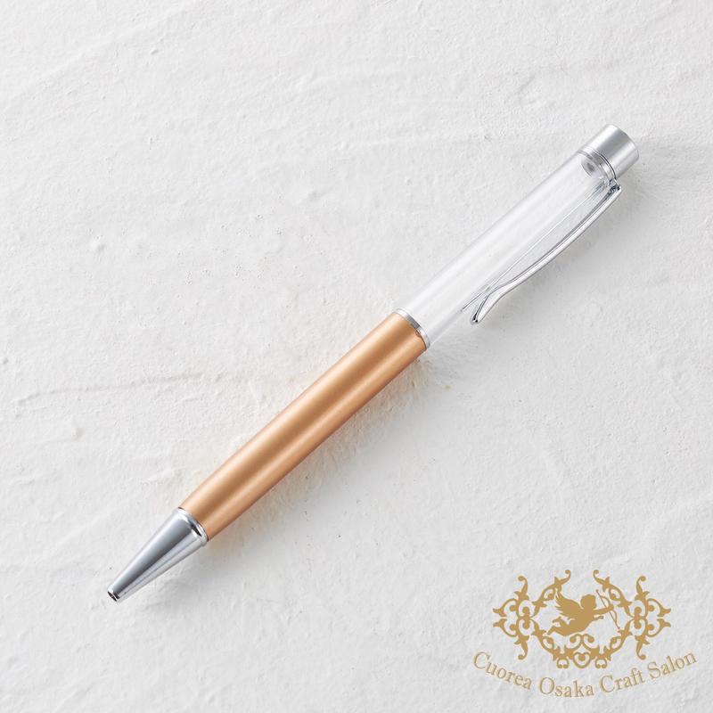 9:ハーバリウムボールペン単体 ゴールド×S