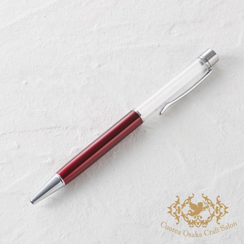 6:ハーバリウムボールペン単体 ワインレッド×S