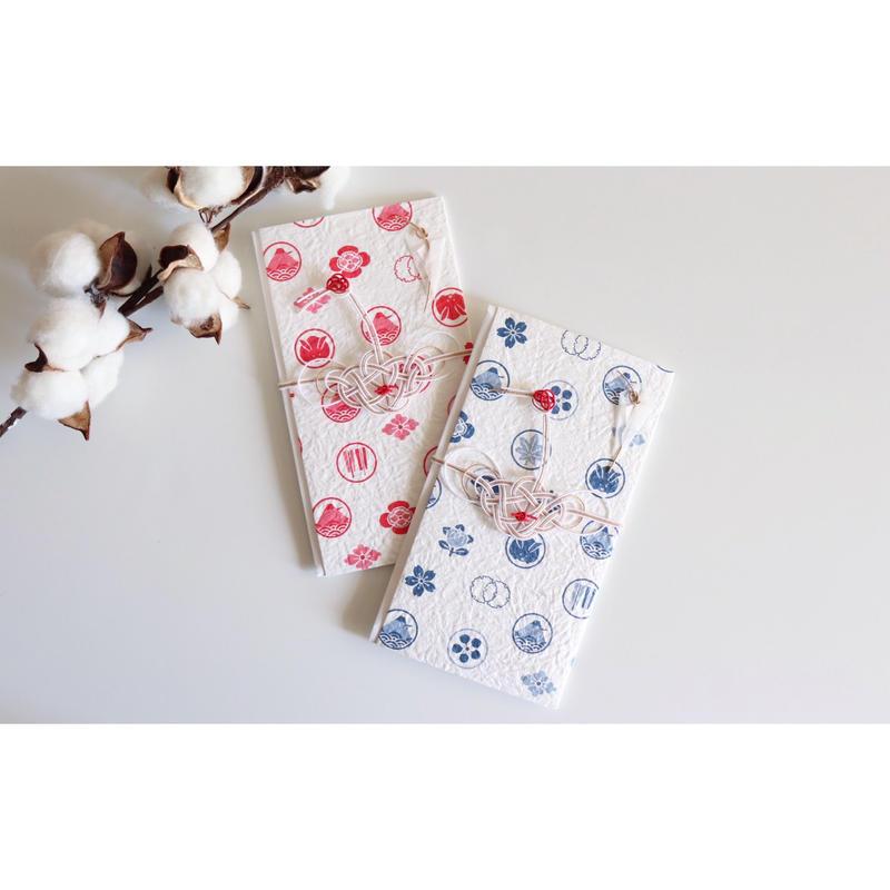 鶴と揉み和紙のoiwai袋