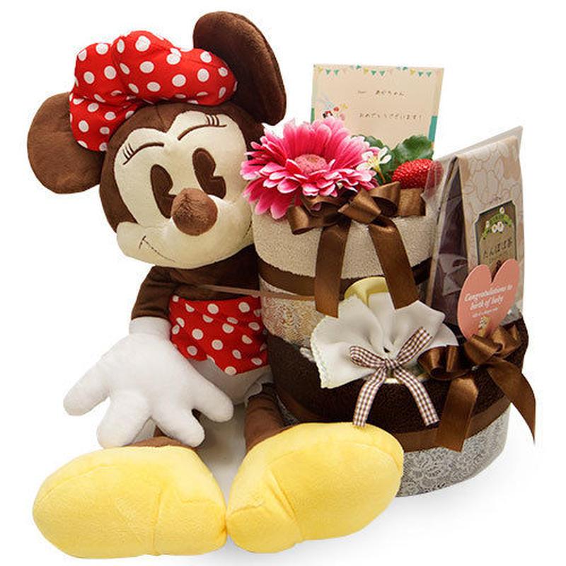 世界一可愛いミニーマウス♪[ミニー]のオムツケーキ(2段)
