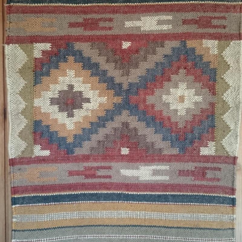 ジュート手織りラグ