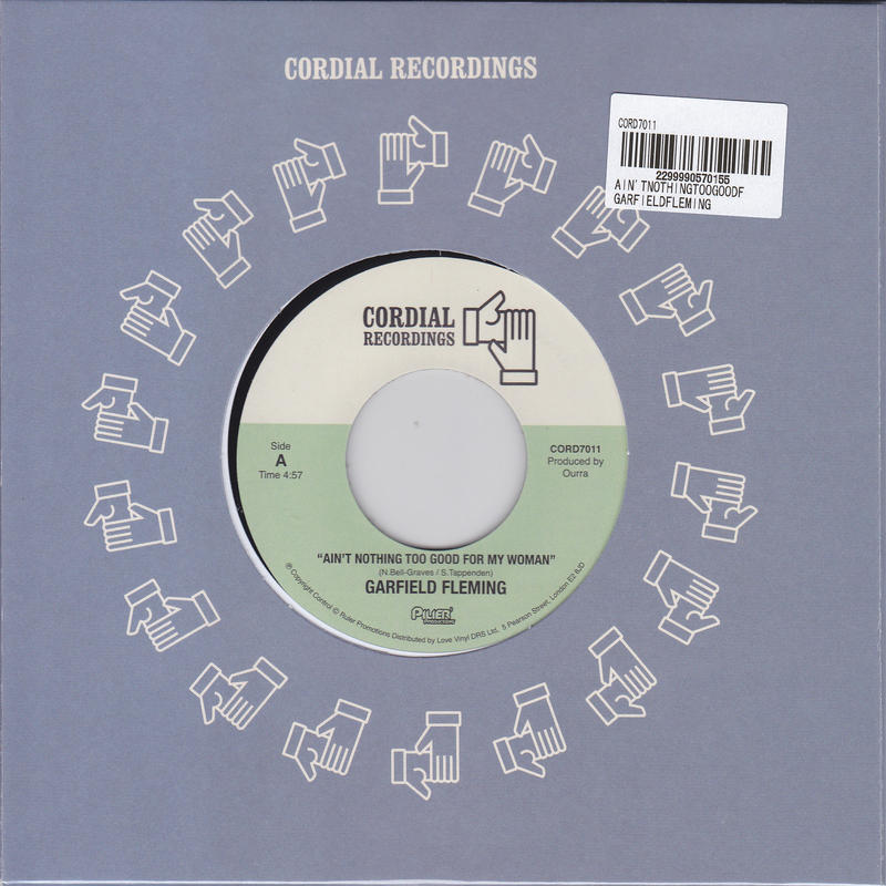 GARFIELD FLEMING / AIN'T NOTHING TOO GOOD FOR MY WOMAN / HUSTLIN' (ACOUSTIC VERSION) / 7inch