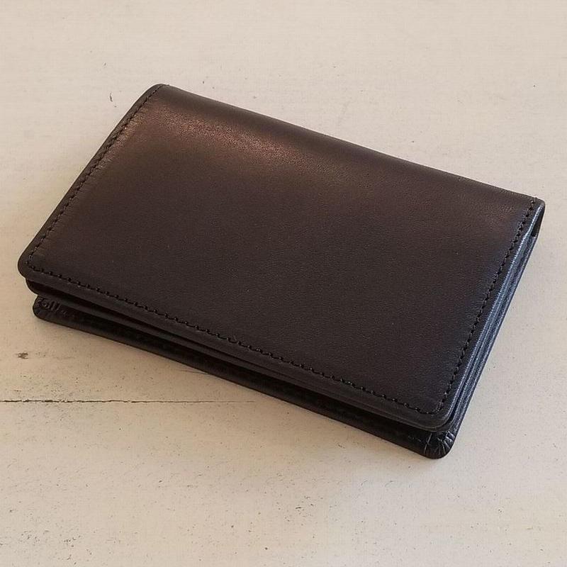 QUADSTAR   職人技のカードケース 栃木レザー ブラック