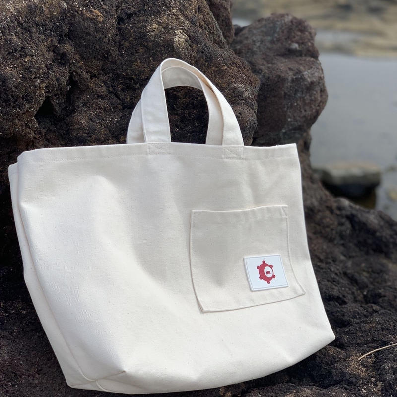 New 帆布トートバッグ White color