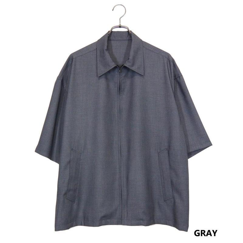 Iroquois 50Sツイルジップアップシャツ(GRAY)