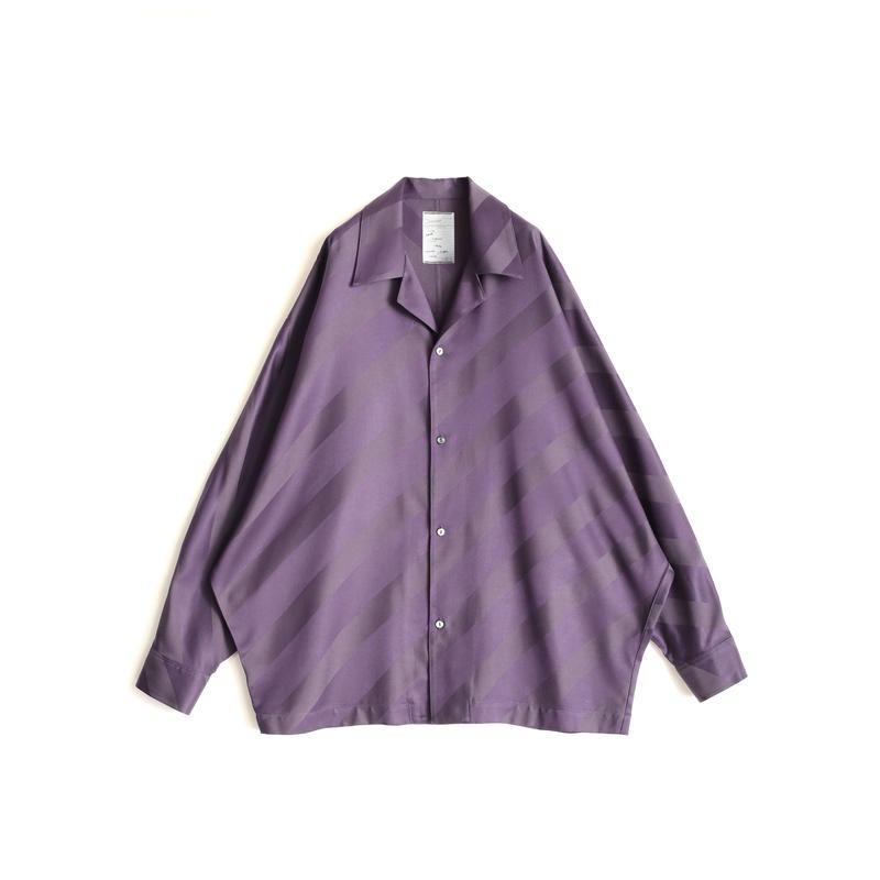 SHAREEF BIAS STRIPE DOLMAN SHIRTS(Purple)