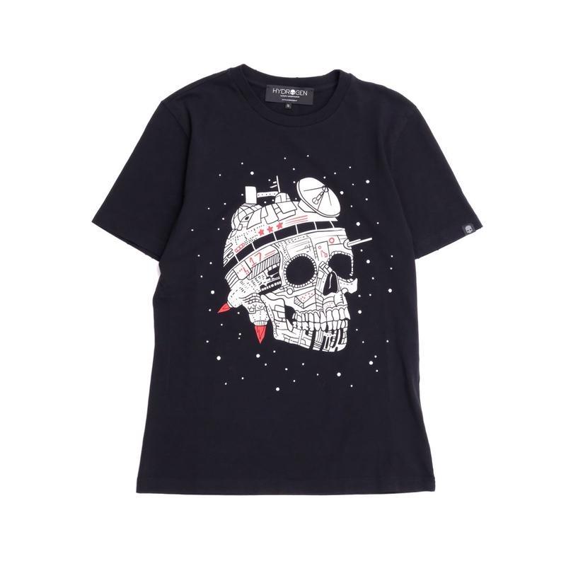 HYDROGEN SPACE SKULL VINTAGE TEE(BLACK)