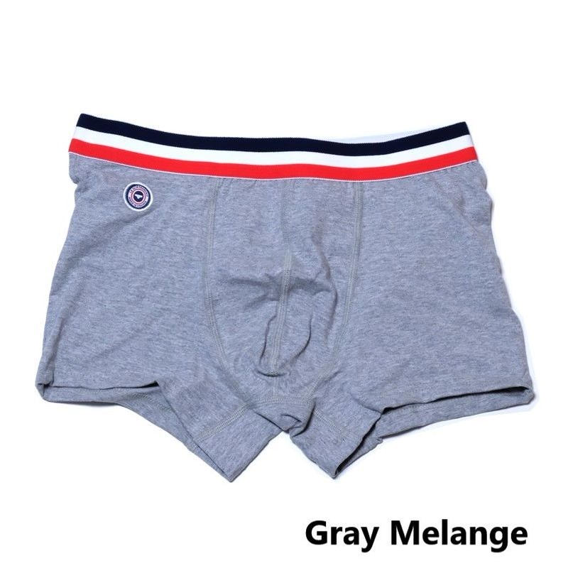 Le Slip Francais Permanent Lycra Boxer Briefs(Gray Melange)