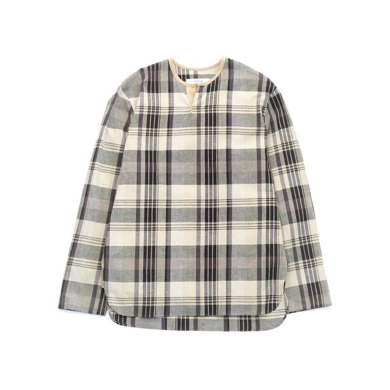 RICEMAN Pullover Shirt(BEIGE×NAVY)