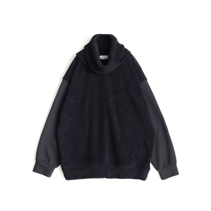 SHAREEF POLYESTER MOLE PULL OVER(REMOVABLE NECK)(Black)