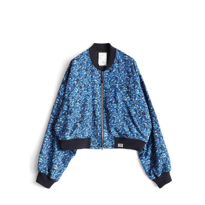 SHAREEF COLOR CAMOUFLAGE RIB BLOUSON(Blue)
