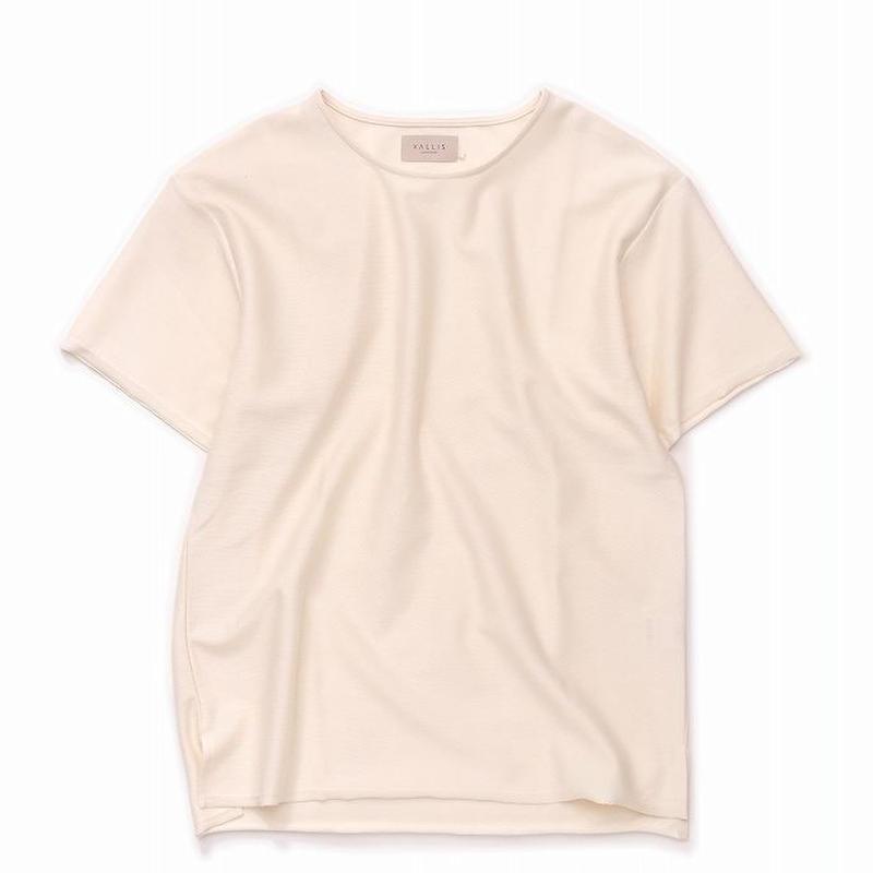 VALLIS by FACTOTUM フロートインレー BIG Tシャツ(CREAM)