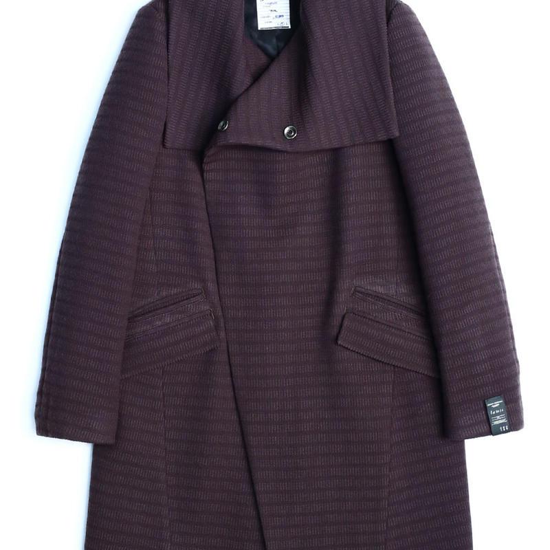 SHAREEF WOOL JQ WRAP COAT(Purple Gray)