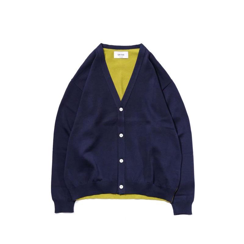 UNITUS Color Block Cardigan(Navy)