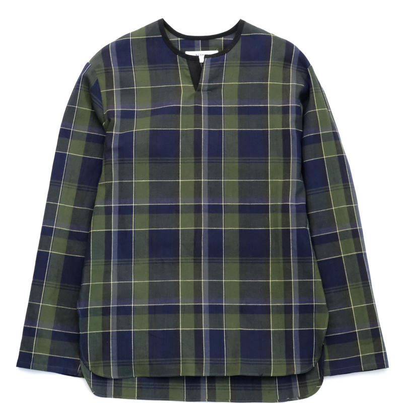 RICEMAN Pullover Shirt(GREEN×NAVY)