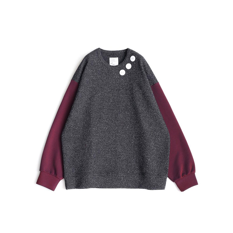 SHAREEF NEP WOOL L/S PULL OVER(Black)