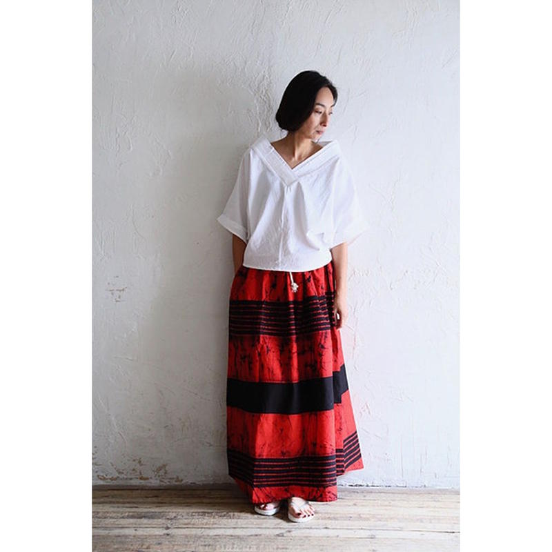 【WOMEN'S】THE FACTORY バティックスカート(Red×Black)